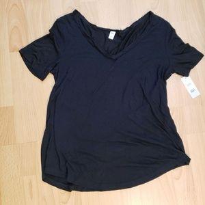 BP. black basic v-neck tee